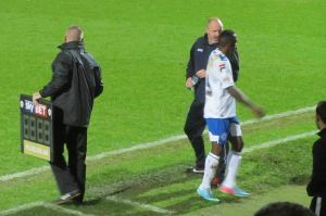 Former Spireite Javan Vidal is replaced after 18 minutes