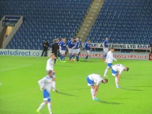 Ollie Banks gives the home side the lead