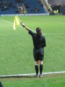 The female assistant referee