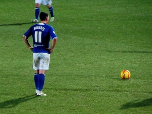 Gary Roberts stands over the ball