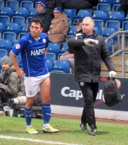 Gary Roberts is forced off through injury