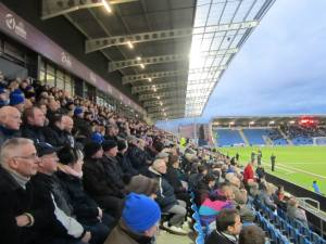 Fans in the West Stand