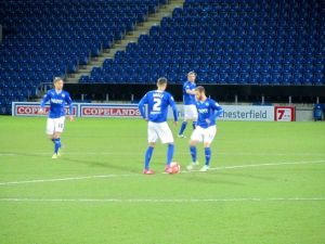 Chesterfield begin the second half