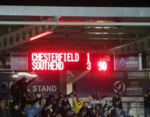 Kevan Hurst's late goal makes it 3-1 to Southend at full time