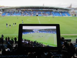 View from the TV gantry