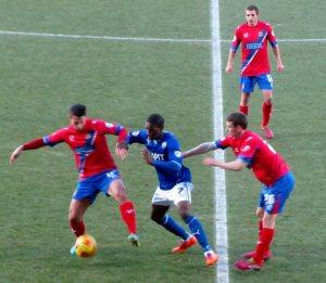Battling for the ball