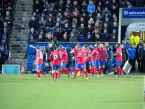 Dagenham celebrate the equaliser