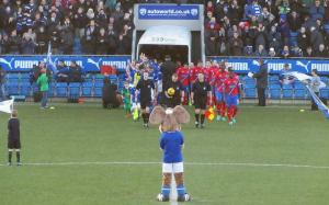 The teams head out of the tunnel
