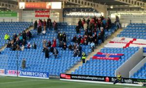 The away following