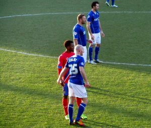 The Chesterfield back line