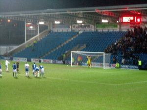 Rochdale are awarded a 90th minute penalty