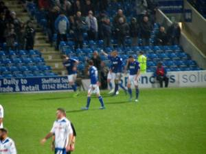 Roberts puts Chesterfield ahead
