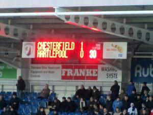 1-0 on the half hour