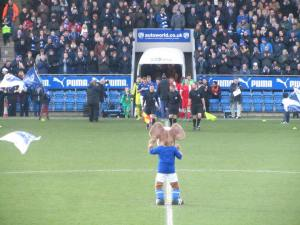 The players make their way on to the pitch