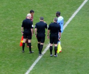 The two captains and the officials