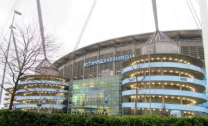 Arriving at the  Etihad