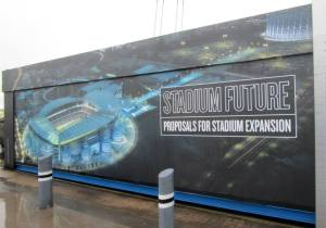 The exhibition showing City's plans for the future of their stadium