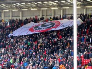 The Kop unveils a flag