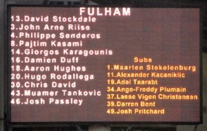 The Fulham line up