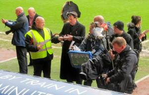 The BT Sport coverage is presented from the dugout