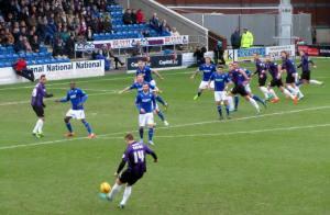 A Rovers free kick