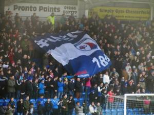 Spireites flag on the Kop