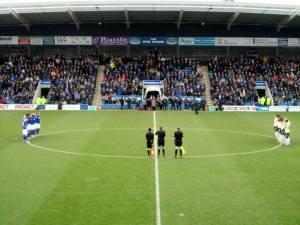 A minute's silence for Sir Tom Finney ahead of kick off