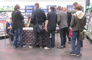 Fans meet the band