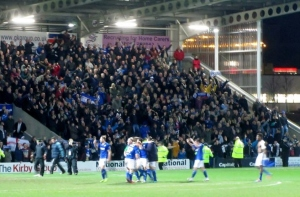 But it isnt enough as Chesterfield win the tie 3-2 on aggregate