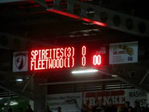The Spireites hold a 3-1 lead from the first leg