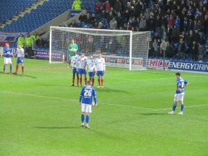 Chesterfield stand over an early free kick