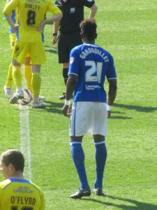 Armand Gnanduillet comes on at the break