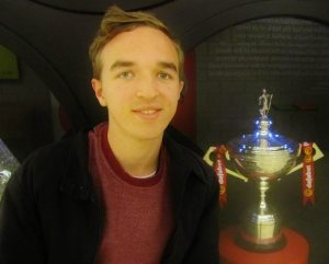 Sat by the trophy at the interval