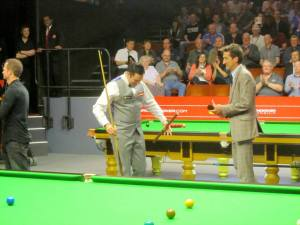 Dominic Dale makes his entrance
