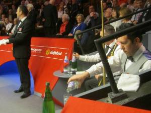 The two players in their seats