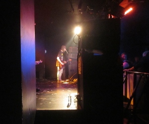 Looking from the side of the stage