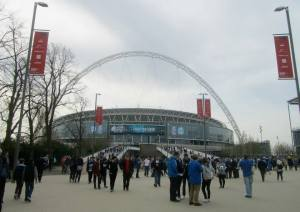Walking towards Wembley