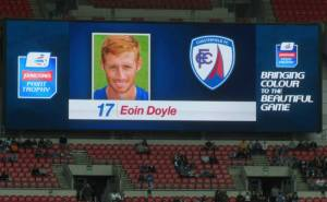 Eoin Doyle leads the attack for Chesterfield