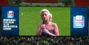 The singer of the national anthem