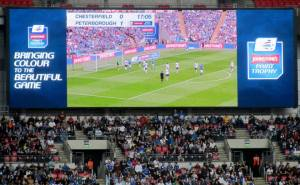 The action on the big screen