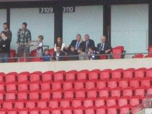 Sir Alex Ferguson watches the Spireites!