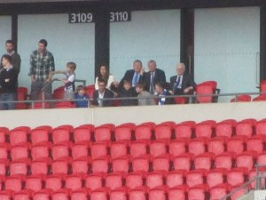 Sir Alex Ferguson watches the Spireites!