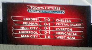 Half time scores elsewhere