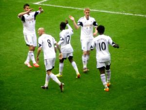 The Swansea celebrations