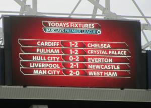 The results, meaning Man  City are champions