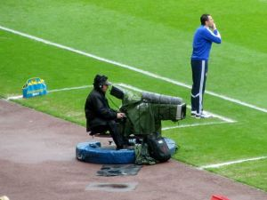 Gus Poyet on the touchline