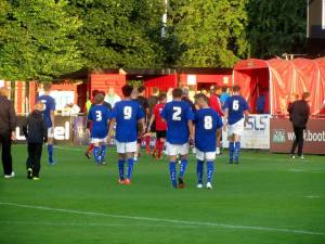 The players head in at the break