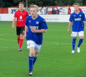George Milner who scored at Hallam yesterday