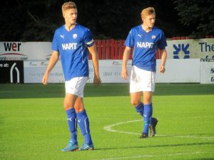 The captain Jack Broadhead is the only player in the Chesterfield side to have a first team appearance to his name
