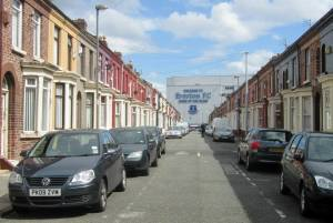 Walking towards Goodison Park